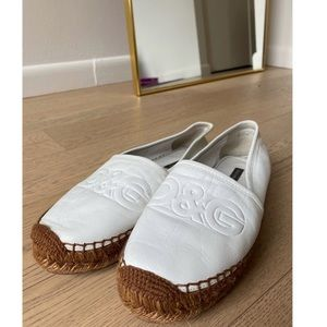 Dolce and Gabbana leather embossed espadrille
